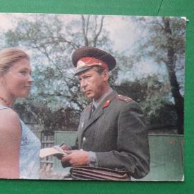 Киноартисты О.Ефремов,Л.Зайцева 1973 год